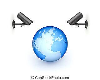 big, cameras, pozorování, globe.