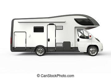 Big camper vehicle - side view