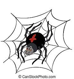 Big cartoon spider
