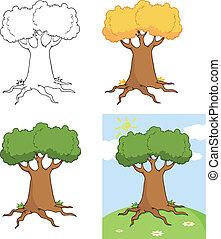 Big Cartoon Tree Set Collection