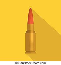 Big cartridge icon, flat style