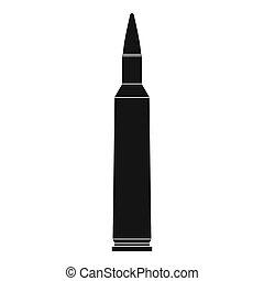 Big cartridge icon, simple style