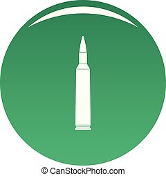 Big cartridge icon vector green