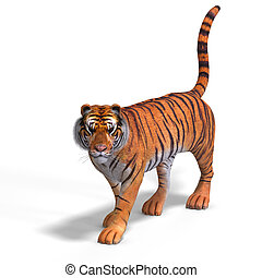 Big Cat Tiger - Dangerous Big Cat Tiger With Clipping Path...