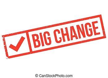 Big Change rubber stamp