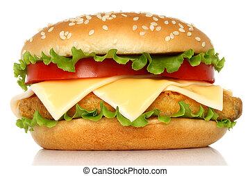 Big chicken hamburger