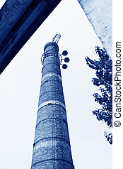 big chimney in a factory