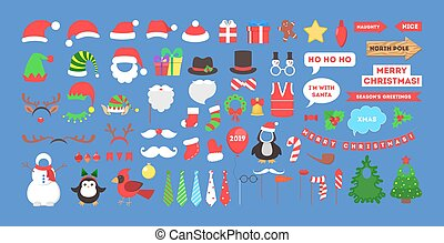 Big christmas party props for photobooth set.