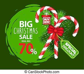 Big Christmas Sale 70 Percent Off Promotion Banner - Big ...