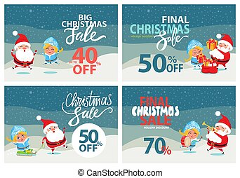 Big Christmas Sale Clearance Vector Illustration