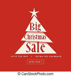 big christmas sale poster design