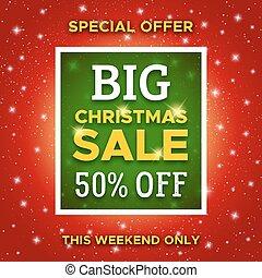Big Christmas Sale promo banner. Vector template