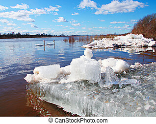 Big chunk of ice in the river