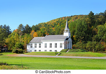 Big church in Vermont country side