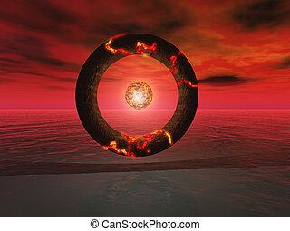 Big circle - big eyes circle