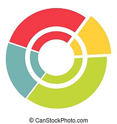 Big circle icon, flat style