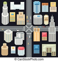 Big city elements - set of modern vector objects