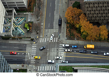 Big City Intersection #1 - Downtown Seattle street...