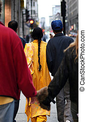 Big city life - People walking on the street