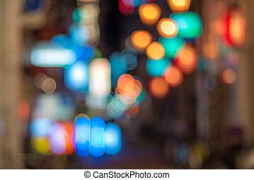 Big city lights bokeh background