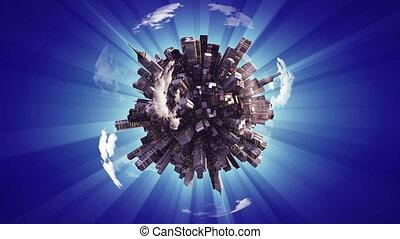 """big city on small planet"""