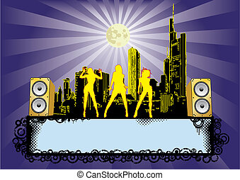 Big City Party - Flyer for your party or fest