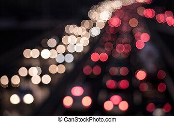 big-city traffic background