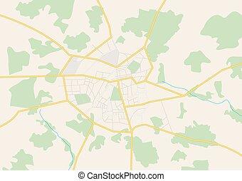 big city - vector plan