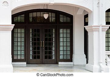 Big classical luxury wooden door