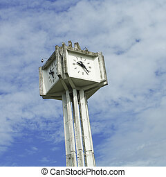 Big Clock Tower in Clear Blue Sky