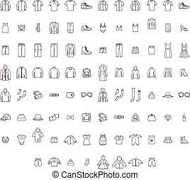 Big clothes set - Set of the men, women and baby clothes