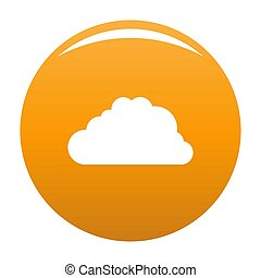 Big cloud icon orange