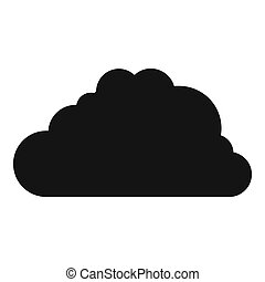 Big cloud icon, simple style.
