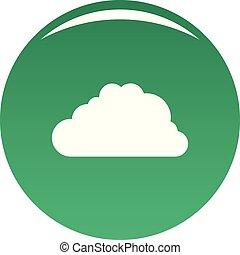 Big cloud icon vector green