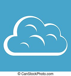Big cloud icon white