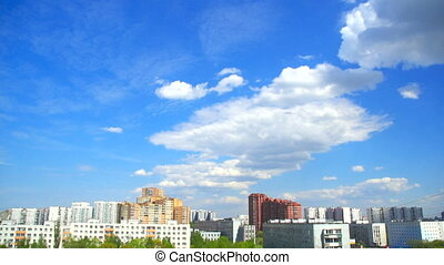 big cloud over the city
