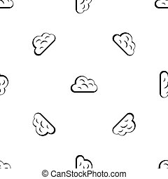 Big cloud pattern seamless black