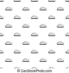 Big cloud pattern vector