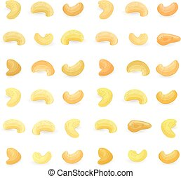 big collection of cashews for your design