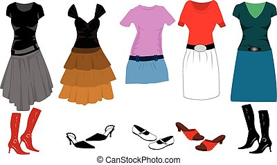 big collection of clothes and acces