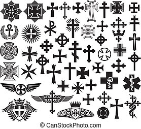 Big collection of crosses - Big collection of vector ...