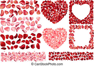 Big collection of detailed rose petals - Big collection of...