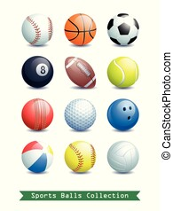 Big Collection of different Sports Balls for your creative works.