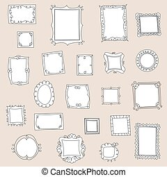 Big collection of doodle frames