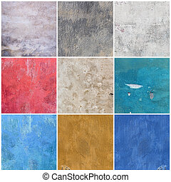 Big collection of old grunge textures backgrounds