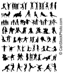 collection of people silhouettes