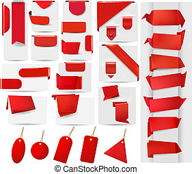 Big collection of red origami