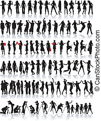 Big collection of silhouette