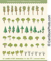 Big collection of tree illustrations