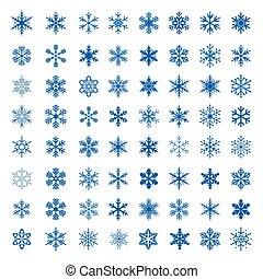 Big collection of Vector Snowflakes.